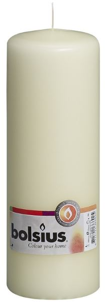 Ivory Pillar Candle 200mm x 80mm BS028P