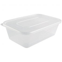 500ml Takeaway Containers and Lids box of (250)