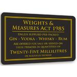 25ml Weights & Measures Act Notice BA001 / BSS21