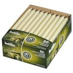 50 x Cream Taper Candles 250mm BS031P