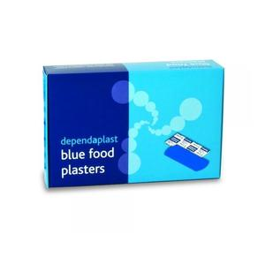 100 x Blue Detectable Plasters 75mm x 25mm 3702 / BS094